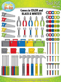 Tool Kit Clip Art Set  — Over 110 Graphics!