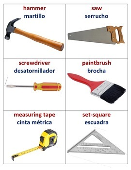 Tool Picture Chart (English/Spanish)
