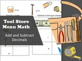 Tool Store Menu Math-Add and Subtract Decimals