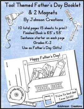 Tool-Themed Father's Day Booklet & Magnets