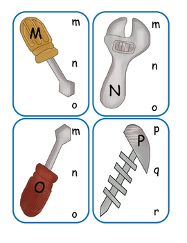 Tool Time Capital to Lowercase Clip Cards