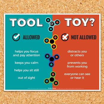 "Fidget Spinner Poster: Expectations for Fidget Toys [""Tool or Toy?""]"