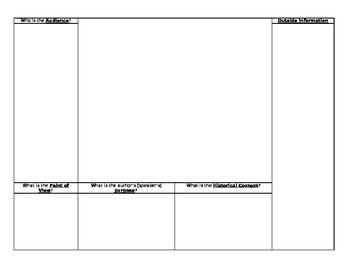 Tool to Outline Documents in a DBQ