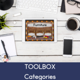 Toolbox Categories (No Print) (Boom Card Lesson) (Teletherapy)