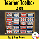 Toolbox Drawer Labels ** Editable - Red and Blue Theme