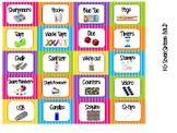 Toolbox Labels- Bright Chevron