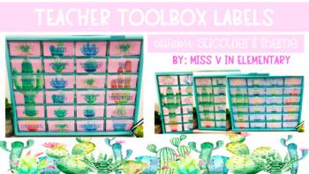 Toolbox Labels Cactus Succulent Theme