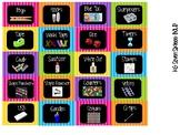 Toolbox Labels- Chalkboard Chervon Bright