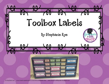 Toolbox Labels (Editable)