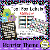 Toolbox Labels (Editable) Monster Theme