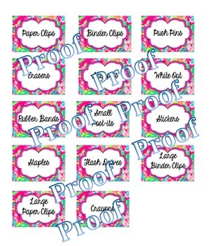Toolbox Labels-Lilly Pulitzer