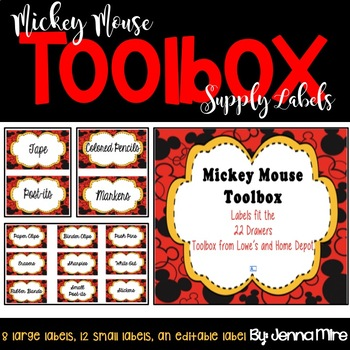 Toolbox Labels-Mickey Mouse