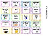 Toolbox Labels- Pastel Chevron