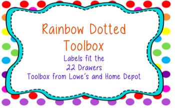 Toolbox Labels-Rainbow Dotted