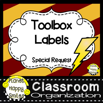 Toolbox Labels Special Request