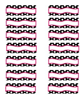 Toolbox Labels (pink, black, white)