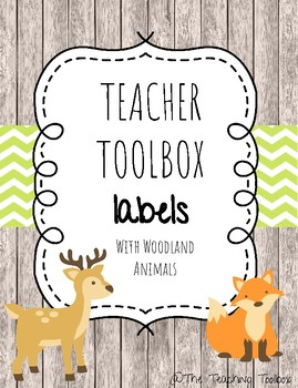 Toolbox Labels with Woodland Animals