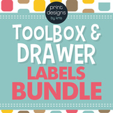 Toolbox and Drawer Labels BUNDLE - DAYS, SUBJECTS, TOOLBOX