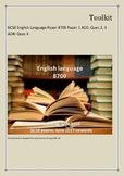 Toolkit: GCSE English Language Paper 8700 Paper 1 AO2; Que