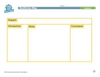 Toolkit of Graphic Organizer for Grades 3–5: Nonfiction Map