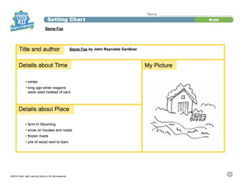 Toolkit of Graphic Organizers for Grades 3–5: Setting Chart