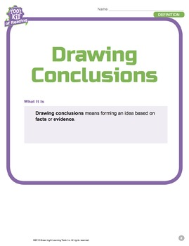 Toolkit of Reading: Drawing Conclusions
