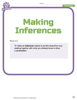 Toolkit of Reading: Making Inferences