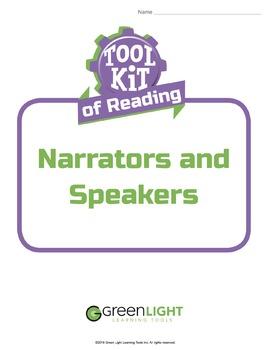 Toolkit of Reading: Narrators and Speakers