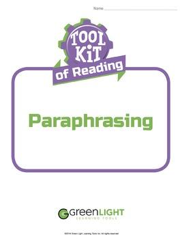 Toolkit of Reading: Paraphrasing