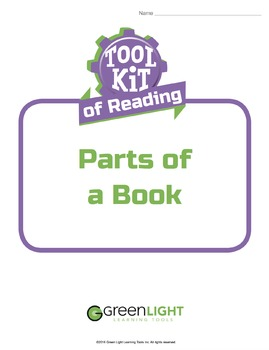 Toolkit of Reading: Parts of a Book
