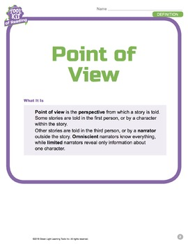 Toolkit of Reading: Point of View