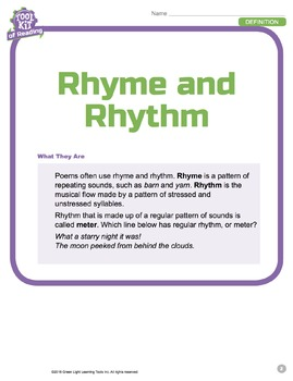 Toolkit of Reading: Rhyme and Rhythm