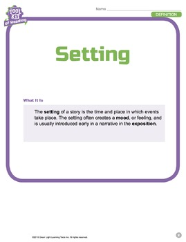 Toolkit of Reading: Setting