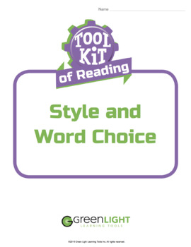 Toolkit of Reading: Style and Word Choice