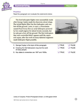 Toolkit of Reading: Summarizing