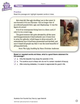 Toolkit of Reading: Theme