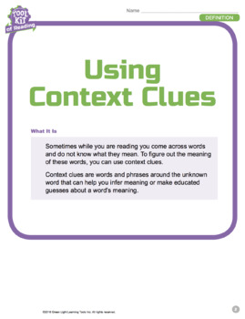 Toolkit of Reading: Using Context Clues