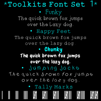 Toolkits Fonts Set 1 Clip Art CU OK