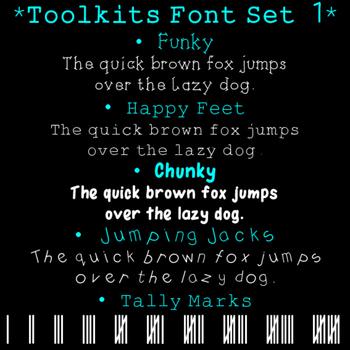 Toolkits Fonts Set 1 Clip Art CU OK