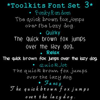 Toolkits Fonts Set 3 Clip Art CU OK
