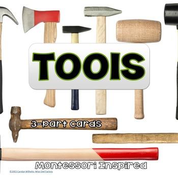 Tools 3-part Montessori Cards