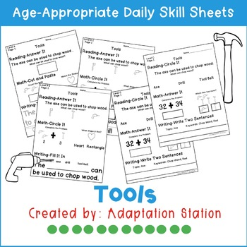 Tools Adapted Daily Skill Sheets