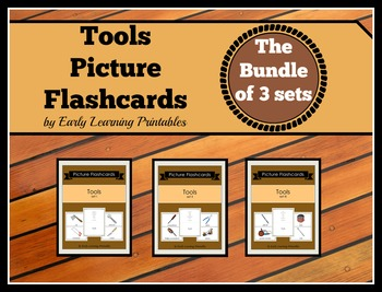 Tools BUNDLE (set I, II, III) Picture Flashcards