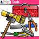 Tool Clip Art {Build STEM & STEAM Resources, Construction Toolbox for Science}
