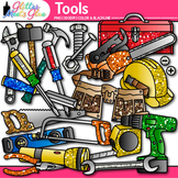 Tool Clip Art: STEM and STEAM Science Graphics B&W {Glitte