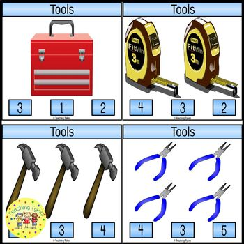 Tools Count and Clip Task Cards
