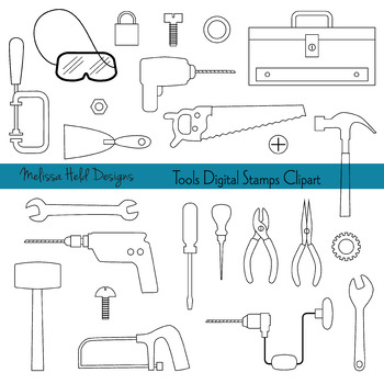 Clipart: Tools Black and White Clip Art