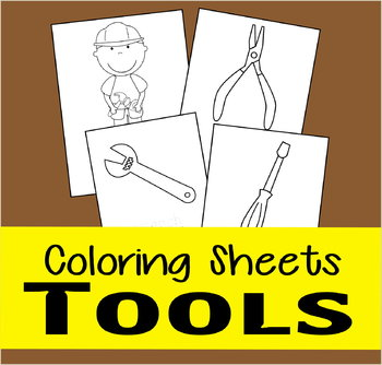 Tools Coloring Sheets for Kids