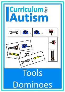 Tools Dominoes Game, Turn Taking Skills Autism & Special E