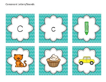 Tools For Assessment - Consonant Letter/Sound Cards